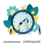vector illustration  stopwatch... | Shutterstock .eps vector #1099566185