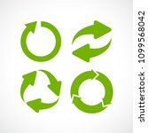 abstract ecology cycle icon set ... | Shutterstock .eps vector #1099568042