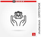 social care vector icon   Shutterstock .eps vector #1099578458