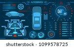 car service. scanning.... | Shutterstock .eps vector #1099578725