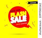 flash sale  banner design...   Shutterstock .eps vector #1099583162