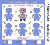 children shadow matching game... | Shutterstock .eps vector #1099588892