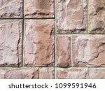 brown stone tiles  background ... | Shutterstock . vector #1099591946