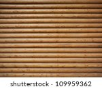 Wall Made Of Wooden Logs...