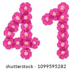arabic numeral 41  forty one ... | Shutterstock . vector #1099595282