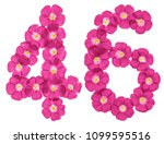arabic numeral 46  forty six ... | Shutterstock . vector #1099595516