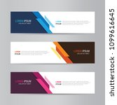 vector abstract banner design.... | Shutterstock .eps vector #1099616645