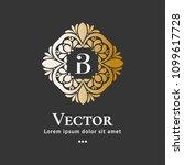 vector emblem. elegant  classic ... | Shutterstock .eps vector #1099617728