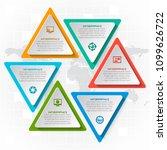 vector abstract 3d paper... | Shutterstock .eps vector #1099626722