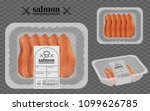 salmon packaging on the... | Shutterstock .eps vector #1099626785