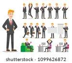 businessman with blond hair ... | Shutterstock .eps vector #1099626872
