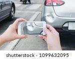hand using mobile smart phone... | Shutterstock . vector #1099632095