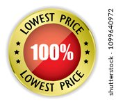 red 100  lowest price badge... | Shutterstock .eps vector #1099640972