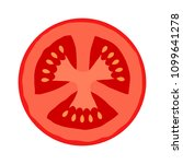 tomato half slice cross section ... | Shutterstock .eps vector #1099641278