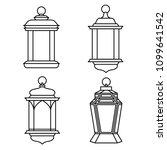 set of ramadan lanterns ...   Shutterstock .eps vector #1099641542