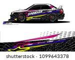 rally car wrap vector design.... | Shutterstock .eps vector #1099643378