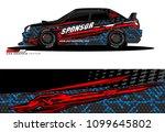 rally car wrap vector designs....   Shutterstock .eps vector #1099645802
