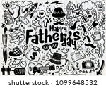 happy father s day hand drawn... | Shutterstock .eps vector #1099648532