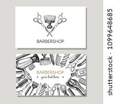 vector set with business cards... | Shutterstock .eps vector #1099648685