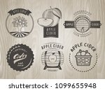 vector cider labels and logos....   Shutterstock .eps vector #1099655948
