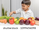 healthy and nutrition concept.... | Shutterstock . vector #1099656098