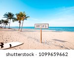 landscape of coconut palm tree... | Shutterstock . vector #1099659662
