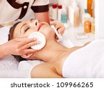 young woman getting facial ... | Shutterstock . vector #109966265