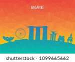 singapore landmark global... | Shutterstock .eps vector #1099665662