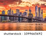 new york  new york  usa skyline ... | Shutterstock . vector #1099665692