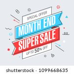 month end super sale banner... | Shutterstock .eps vector #1099668635
