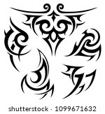 tribal tattoo and aboriginal... | Shutterstock .eps vector #1099671632