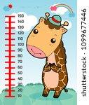meter wall with giraffe....   Shutterstock .eps vector #1099677446