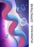 light pink  blue vertical... | Shutterstock . vector #1099679648