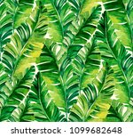 seamless watercolor palm... | Shutterstock . vector #1099682648