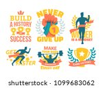 motivational sports stickers... | Shutterstock .eps vector #1099683062