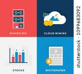 cryptocurrency mining set.... | Shutterstock .eps vector #1099683092