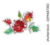 vintage vector floral... | Shutterstock .eps vector #1099687382