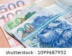 hong kong dollars macro photo ... | Shutterstock . vector #1099687952