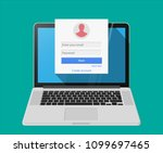 member login form into account... | Shutterstock .eps vector #1099697465