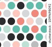 polka dot background  seamless... | Shutterstock .eps vector #1099698092