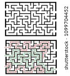 illustration with labyrinth ... | Shutterstock .eps vector #1099704452