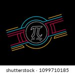 pi day  beautiful greeting card ... | Shutterstock .eps vector #1099710185