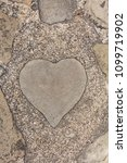 Small photo of Heart stone. It is in the Glover Garden and it is said that love comes true when you touch it.