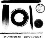 hand drawn scribble symbols... | Shutterstock .eps vector #1099724015