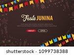 festa junina background with... | Shutterstock .eps vector #1099738388