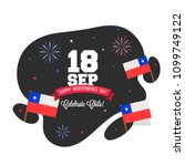 independence day of chile... | Shutterstock .eps vector #1099749122