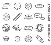 bread icons. collection of... | Shutterstock .eps vector #1099750025