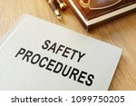 safety procedures manual on an... | Shutterstock . vector #1099750205
