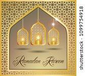 ramadan kareem greeting card.... | Shutterstock .eps vector #1099754918