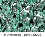 houses and buildings seamless... | Shutterstock .eps vector #1099758206